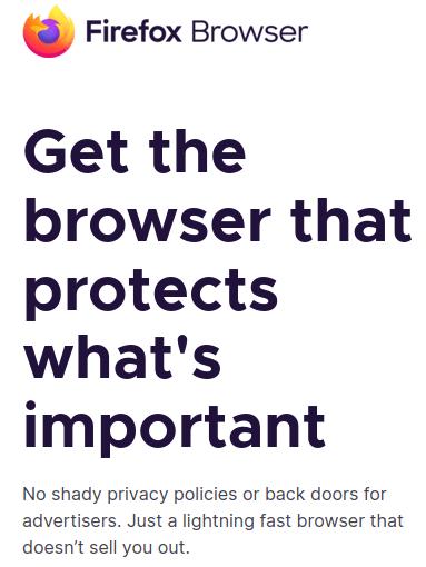 Firefox Desktop browser