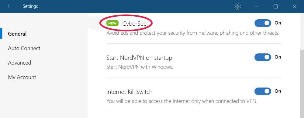 CyberSec from NordVPN
