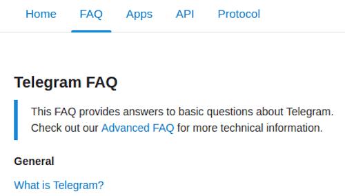 Telegram encrypted messanger FAQ
