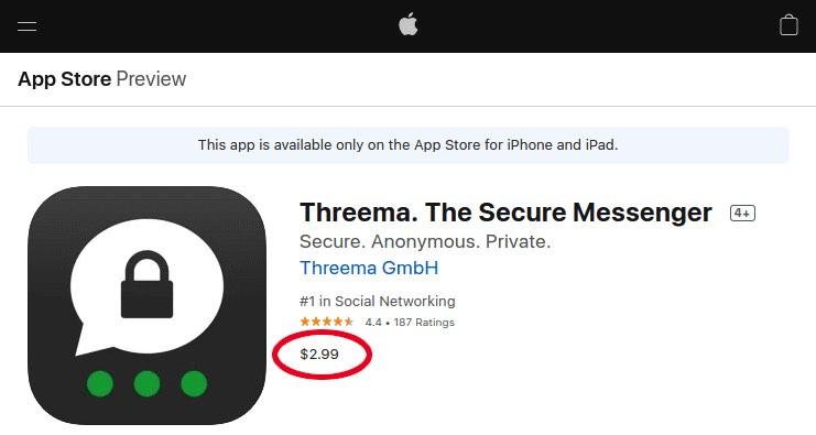 Threema app price