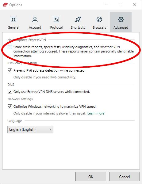 expressvpn privacy crash reports