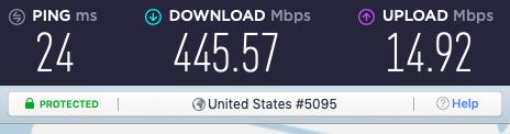 NordLynx Seattle speed test results