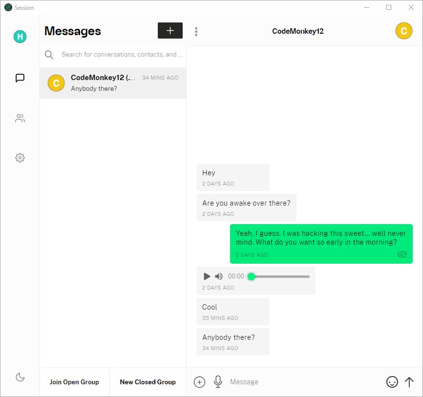 Session Messenger Desktop App