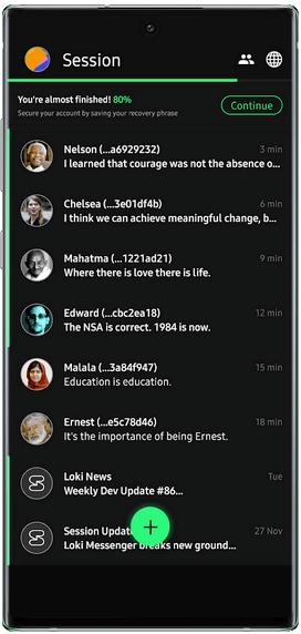 Session Messenger Mobile Chat