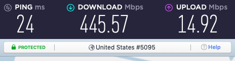 NordVPN is the fastest VPN I have ever seen.